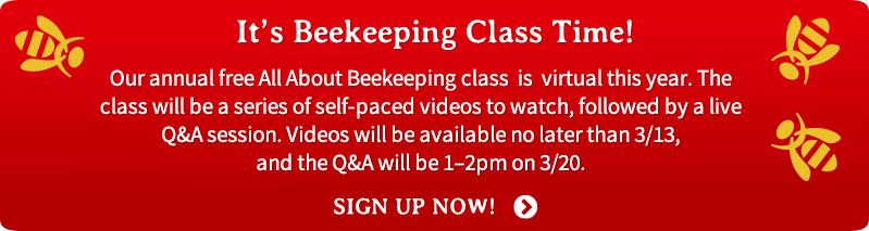 2021 Beginning Beekeeping Class